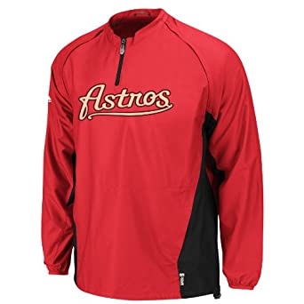 MLB Houston Astros Lightweight 1 4 Zip Gamer Jacket Boys