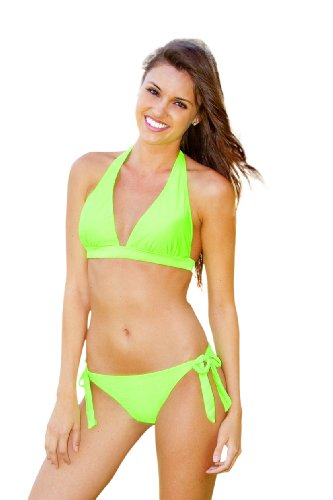 Ingear Push Up Halter/Side Tie (Small, Neon Lime)