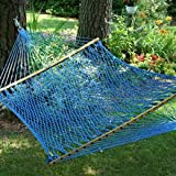 Pawley's Island Original Collection Presidential Size Duracord Rope Hammock, Coastal Blue