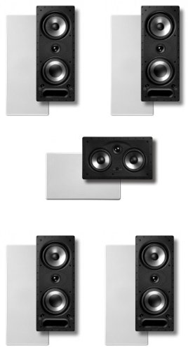Polk Surround In-Wall System:2 Pairs Of 265Rt, One 255Crt Center In-Wall Front