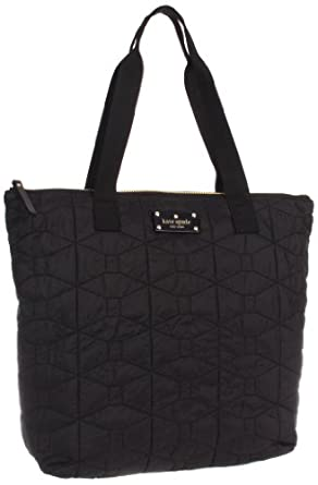 Kate Spade New York Signature Spade Quilted-Bon  Tote,Black,One Size