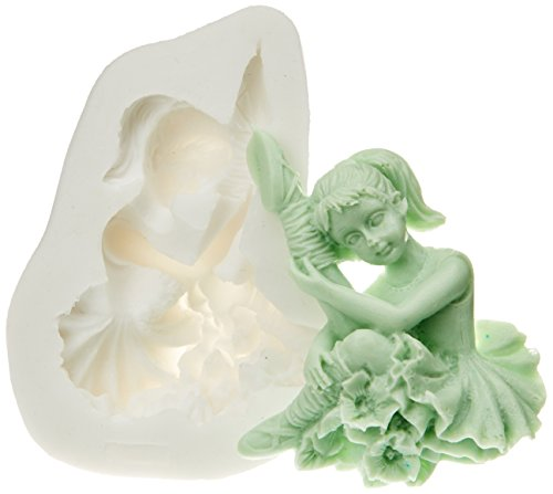 71.329.00.0096 Silikomart Stampi per lo zucchero Dough SLK229 silicone bianca Ballerina
