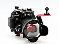 Camdive 40m/130ft Underwater Waterproof Camera Housing Case Kit for Canon EOS 550D/Rebel T2i/Kiss X4