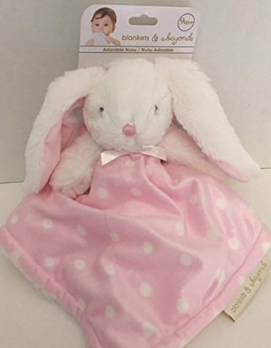 eea09e9c14 Blankets   Beyond Pink   White Polka Dot Bunny Security Blanket