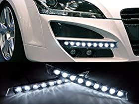 Audi Style 9 LED DRL Daytime Running Light Kit
