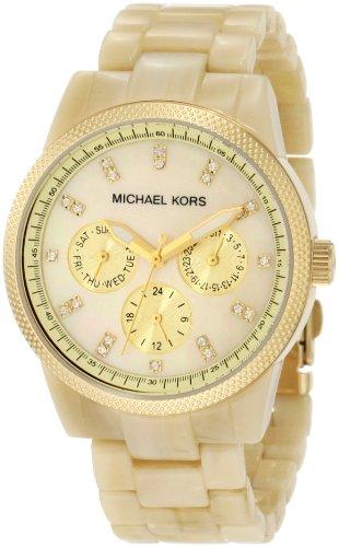 Michael Kors Mk5039 Ladies Champagne Dial Horn Bracelet Watch