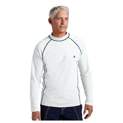 Coolibar upf 50 men 39 s long sleeve swim shirt medium for Mens medium long sleeve shirts