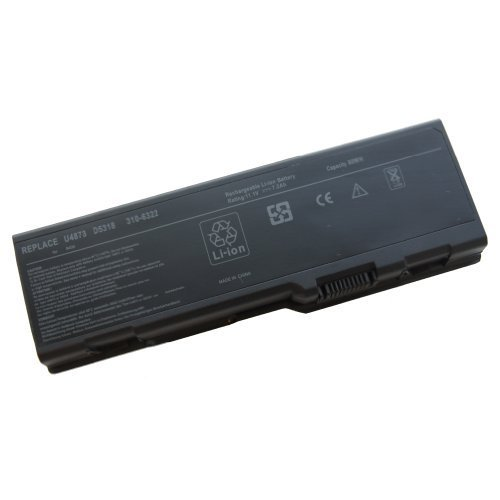 9-Cell 7200mAh 80WH Hi-Responsibility Laptop Battery for DELL Inspiron Inspiron E1705 6000 9200 9300 9400 ,Fits P/N 310-6321 312-0340 312-0348 D5318 F5635 G5260