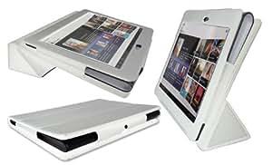 Hamdis Blanc Housse Etui Portefeuille avec support réglable pour Sony S1 Tablet