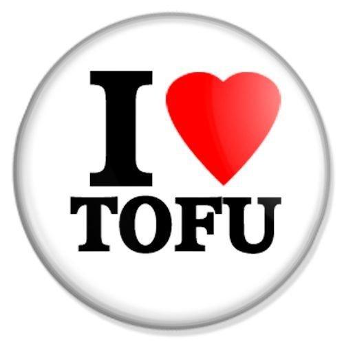 Button I love Tofu - I love Badge, I love Pin, I love Badges, I love Button, I love Pins