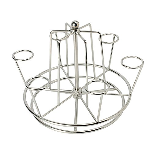 Fashionclubs Stainless Steel Mugs/Wine Glasses/Cups Drying Rack Stand Holder With Rotating Base
