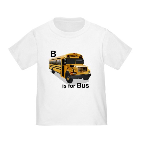 CafePress - B is for Bus: School Bus Toddler T-Shirt - Cute Toddler T-Shirt, 100% Cotton (School Is Cool Shirt compare prices)