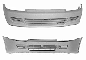 PAINTED FRONT BUMPER COVER HONDA CIVIC 92-95 CP HATCH - Milano Red - R-81
