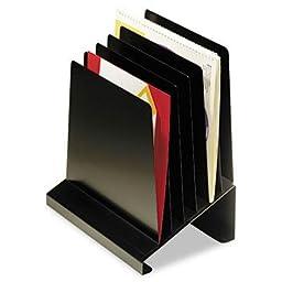 Steelmaster - Slanted Vertical Organizer Six Sections Steel 11 X 7 1/4 X 11 1/2 Black \