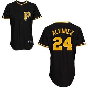 Pedro Alvarez Pittsburgh Pirates Alternate Black Replica Jersey by Majestic by Majestic