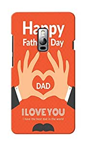 KnapCase Happy Father's Day Designer 3D Printed Case Cover For OnePlus Two