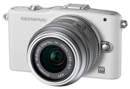 Olympus Pen E-PM1 Compact System Camera - White (includes M.ZUIKO Digital 14 -42mm II R Lens)