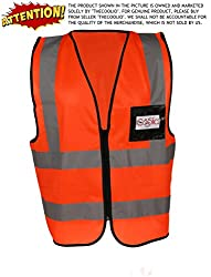 High Visibility Flouroscent Orange Reflective Safety Vest - Large