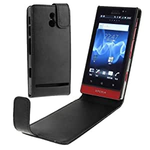 Vertical Flip Leather Case for Sony MT27i / Xperia Sola