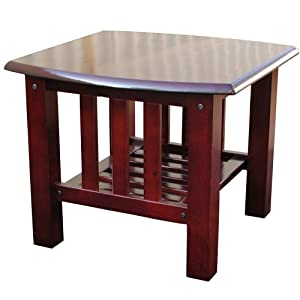 American Furniture Alliance Stanford Mission End Table, Walnut