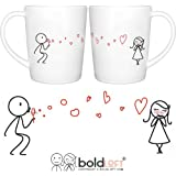 "BOLDLOFT® ""From My Heart to Yours"" His and Hers Matching Couple Coffee Mugs-Cute Couples Gifts,Valentines Gifts for Her,Valentines Day Gifts for Girlfriend,His and Hers Gifts,Anniversary Gifts for Her"