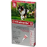 Bayer K9 Advantix II Red 6-Month Flea & Tick Drops for Large Dogs, 21-55 lbs.