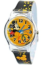 """Disney Watch For Kids Mickey Mouse.Large Analog Display. Adjustable Band 9""""L."""