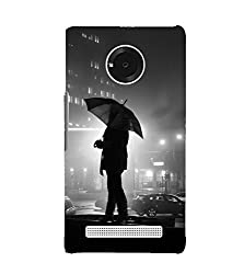 Fiobs Girl with umbrella Back Case Cover for YU YUNIC