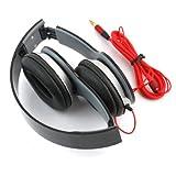 RHX New Black Headphone Stereo Headset Earphone Foldable For DJ PSP MP3 MP4 PC 3.5mm