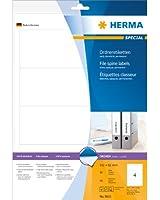 Herma 8621 Étiquettes classeur 192 x 61 A4 40 pièces Blanc