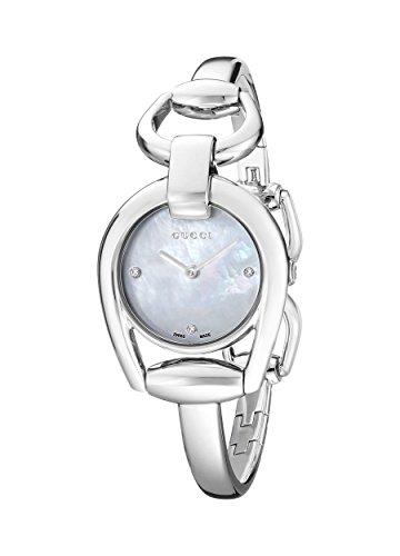Gucci  YA139506 - Reloj de cuarzo para mujer, con correa de acero inoxidable, color plateado