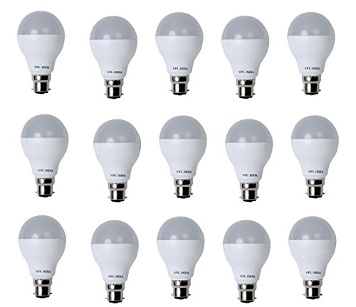 9 Watt LED Bulb (White, Pack of 15)