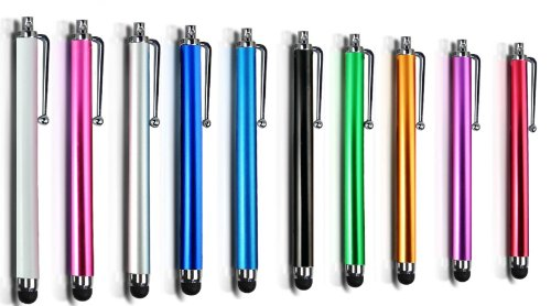 pack-of-10-universal-high-sensitivity-capacitive-long-touch-screen-touchscreen-aluminium-stylus-pen-