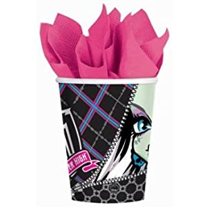Monster High - 9 oz. Paper Cups (8 count) Child