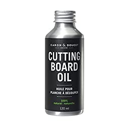 Caron & Doucet - Coconut Cutting Board Oil & Butcher Block Oil - 100% Plant Based, Made From Refined Coconut Oil, Does Not Contain Petroleum (Mineral Oil). (4oz Aluminum)