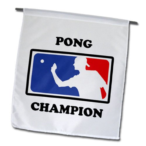 3dRose fl_149825_1 Pong Champion Beer Pong Garden Flag, 12 by 18-Inch (Beer Pong Champions compare prices)