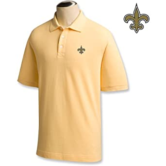 Cutter & Buck New Orleans Saints Yellow Ace Polo by Cutter & Buck