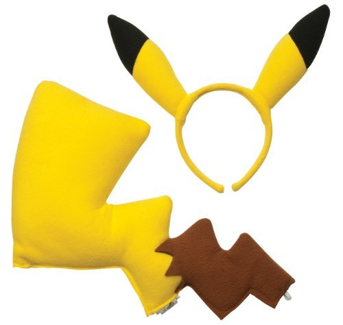 Rubies Pokémon Pikachu Ears and Tail Dress Up Kit by Rubies - Domestic