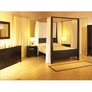 Canopy Bed and Bedroom Sets Made from Wood