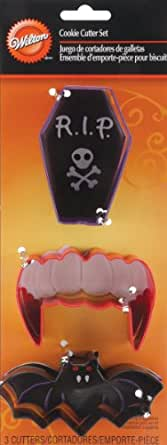 Wilton 3-Piece Vampire Metal Cookie Cutter Set
