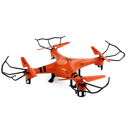 Gptoys H20 Aviax - Quadcopter Drone Falcon RC Cuadricóptero 3D (Modo sin Cabeza, Impermeable, 360 Grados, 4CH 6 Axis 2.4GHz, Transmisor LCD) - Naranja