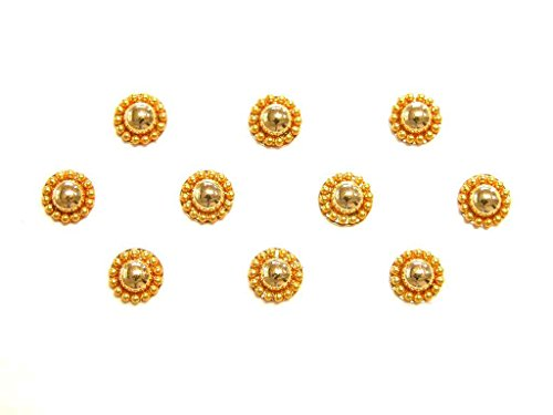 Gold Bindi Dots Classic Indian Body Stickers Face Forehead Jewelry