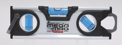 シンワ ハンディレベル MEGA-MAG 150mm 白 マグネット付 73132