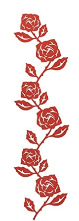 Red Metal Rose Wall Hanger for Photos and Accessories, Modern Home Decor