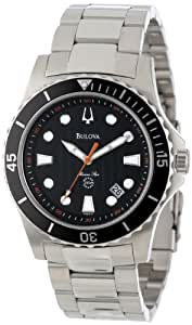 Bulova Men's 98B131 Marine Star Black Dial Bracelet Watch