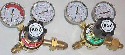 Harris 801 Oxygen Acetylene or LP Cutting Welding Regulator Set CGA 510