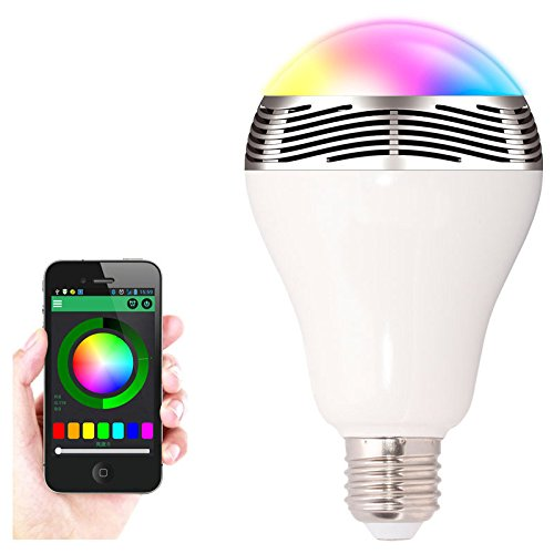 Citiger(TM) Wireless Bluetooth Bulb Speaker, Standard E27 Lamp Base, Music Playing, RGB Lighting, Color Changing, Timing Lights, Sleep Timer, Download APP Remote Control, Support Android and Apple IOS Devices (White) (Ca Timing compare prices)
