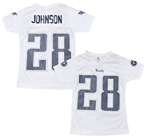 Chris Johnson Tennessee Titans White Girls Kids Youth Jersey by NFL