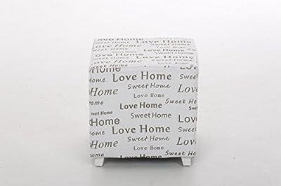 CLP Shabby Chic Sitzhocker BIJOU, 40 x 40 cm, Sitzhöhe 41 cm weiß von CLP - Gartenmöbel von Du und Dein Garten
