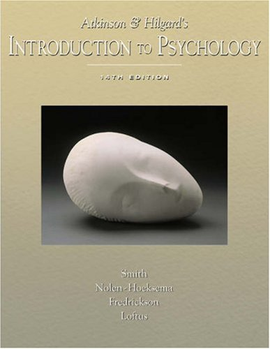 Atkinson and Hilgard's Introduction to Psychology With Infotrac